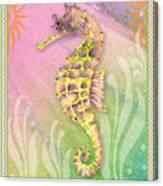Seahorse Violet Canvas Print