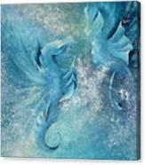 Seahorses In Love 1 Canvas Print