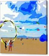 Seal Beach Kite Fly Canvas Print