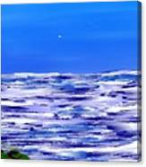 Sea.moon Light Canvas Print