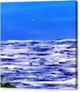 Sea.moon Light Canvas Print