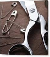Seamstress Scissors Canvas Print