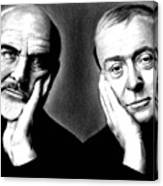 Sean Connery And Michael Caine Canvas Print
