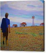 Sean's Visit To Cross Island Lighthouse Canvas Print