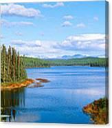 Seaplane On Talkeetna Lake, Alaska Canvas Print