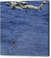 Search And Rescue Swimmers Canvas Print