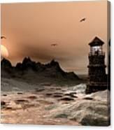 Seascape  A Frozen Morning Canvas Print