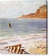 Seascape At Sainte Adresse  Canvas Print