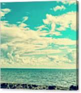 Seascape Cloudscape Instagramlike Canvas Print