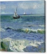Seascape Near Les Saintes Maries De La Mer Arles June 1888 Vincent Van Gogh 1853  1890 Canvas Print