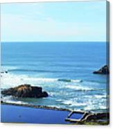 Seascape San Francisco Sutro Bath Pacific Ocean Shore Canvas Print