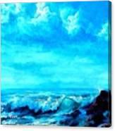 Seascape Scene Near Northbrooke-on-sea L A Canvas Print