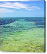 Seascape - The Colors Of Key West Canvas Print