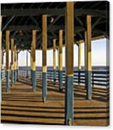 Seascape Walk On The Pier Canvas Print