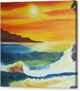 Seashore And Sunrise Canvas Print