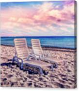 Seaside Chairs Canvas Print
