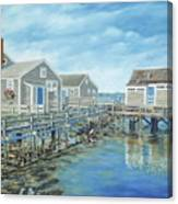 Seaside Cottages Canvas Print