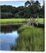 Seaside Creek Fort Lamar Battle Of Secessionville Canvas Print