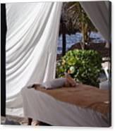 Seaside Massage Canvas Print