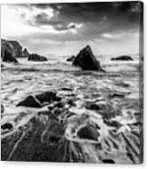 Seaside B/w  Canvas Print