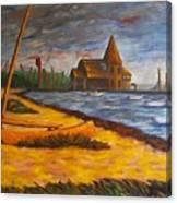 Seaside Park Nj Yacht Club Canvas Print