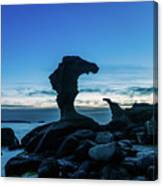 Seaside Rock Formations At Daybreak Canvas Print