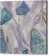 Seaside Rocks And Garnet Sand Canvas Print