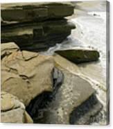 Seaside With Rocks On Left Canvas Print