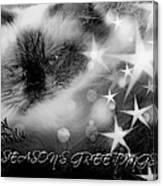 Seasons Greetings Bw Canvas Print