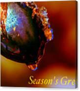 Season's Greetings- Iced Light Canvas Print