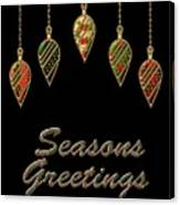 Seasons Greetings Merry Christmas Canvas Print