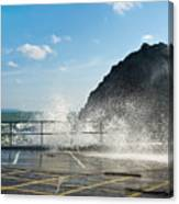 Seaspray At Mevagissey Harbour 2 Canvas Print