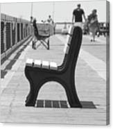 Seat On The Pier Canvas Print