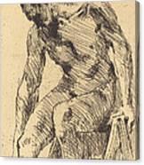 Seated Male Nude (sitzender M?nnlicher Akt) Canvas Print