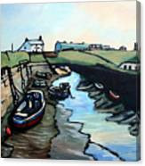 Seaton Sluice Harbour Canvas Print