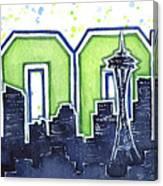 Seattle 12th Man Legion Of Boom Painting Canvas Print