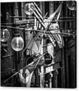 Seattle Alley In Black And White Canvas Print