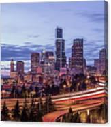 Seattle At Dusk Canvas Print