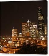 Seattle At Night Canvas Print