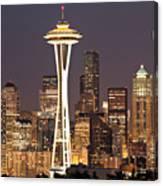 Seattle Full Moon Canvas Print