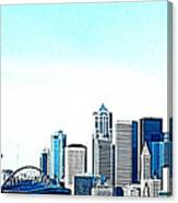 Seattle Blue Canvas Print