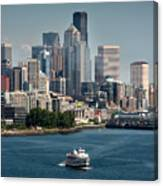 Seattle By Ferry Canvas Print