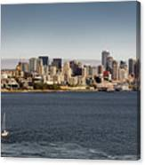 Seattle By Sea Canvas Print
