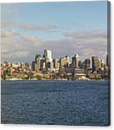 Seattle City Skyline Along Lake Union Canvas Print