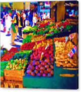 Seattle Farmers Market 2 Canvas Print