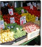 Seattle Farmers Market Canvas Print