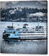 Seattle Ferry Canvas Print