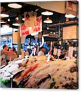 Seattle Fish Throw Pike St Market Canvas Print