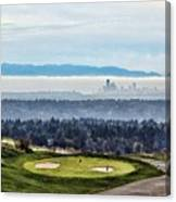 Seattle In The Fog Canvas Print