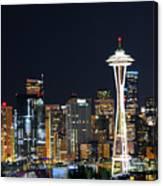 Seattle Night Sky Canvas Print